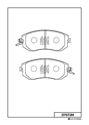 MK KASHIYAMA D7073M   Колодки тормозные SUBARU FORESTER 02- 2.0 перед. (с индикатором износа)   Купить в интернет-магазине Макс-Плюс: Автозапчасти в наличии и под заказ