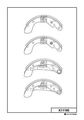 MK KASHIYAMA K11195 | Колодки тормозные барабанные, задние | Купить в интернет-магазине Макс-Плюс: Автозапчасти в наличии и под заказ