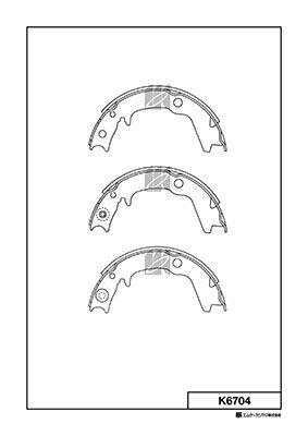 MK KASHIYAMA K6704 | Колодки тормозные барабанные | Купить в интернет-магазине Макс-Плюс: Автозапчасти в наличии и под заказ