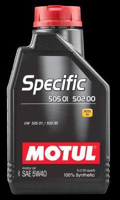 MOTUL 101573   Масло моторное синтетическое Motul Specific 505.01 5W-40 (1л)   Купить в интернет-магазине Макс-Плюс: Автозапчасти в наличии и под заказ