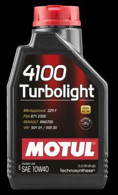 MOTUL 102774   Масло моторное Motul 4100 Turbolight 10W40 (Синтетика, GTI, Turbo) 1L   Купить в интернет-магазине Макс-Плюс: Автозапчасти в наличии и под заказ