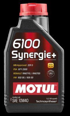 MOTUL 102781   MOTUL 10W40 6100 Synergie Plus п/с 1л   Купить в интернет-магазине Макс-Плюс: Автозапчасти в наличии и под заказ