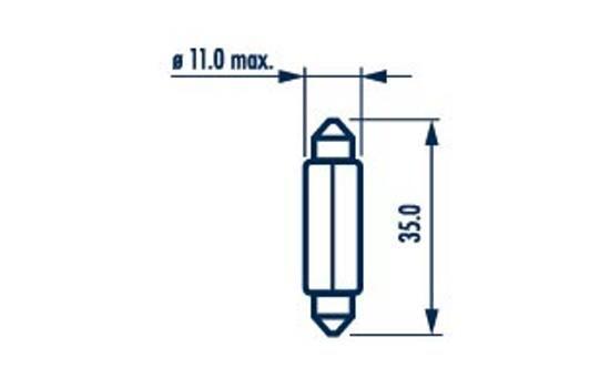 NARVA 17125 | Лампа C5W 12V 5W SV8.5 (T11*41) | Купить в интернет-магазине Макс-Плюс: Автозапчасти в наличии и под заказ