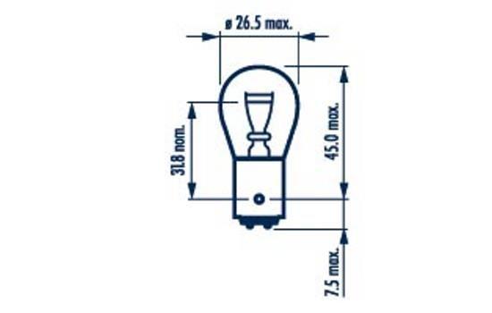 NARVA 17916 | Лампа P21/5W 12V NVA CP | Купить в интернет-магазине Макс-Плюс: Автозапчасти в наличии и под заказ