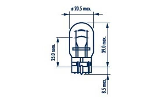 NARVA 17919 | лампа! (W21/5W) 21/5 W 12V стоп+габарит\ | Купить в интернет-магазине Макс-Плюс: Автозапчасти в наличии и под заказ