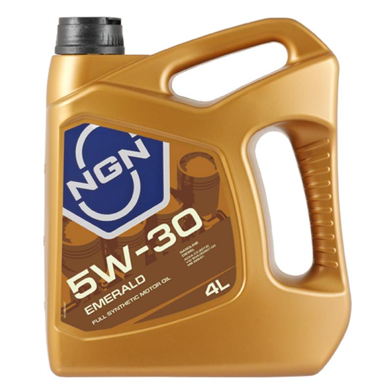 NGN V172085323 | Масло моторное NGN Emerald 5W30 (Синтетика, VAG, ACEA C3) 4L | Купить в интернет-магазине Макс-Плюс: Автозапчасти в наличии и под заказ