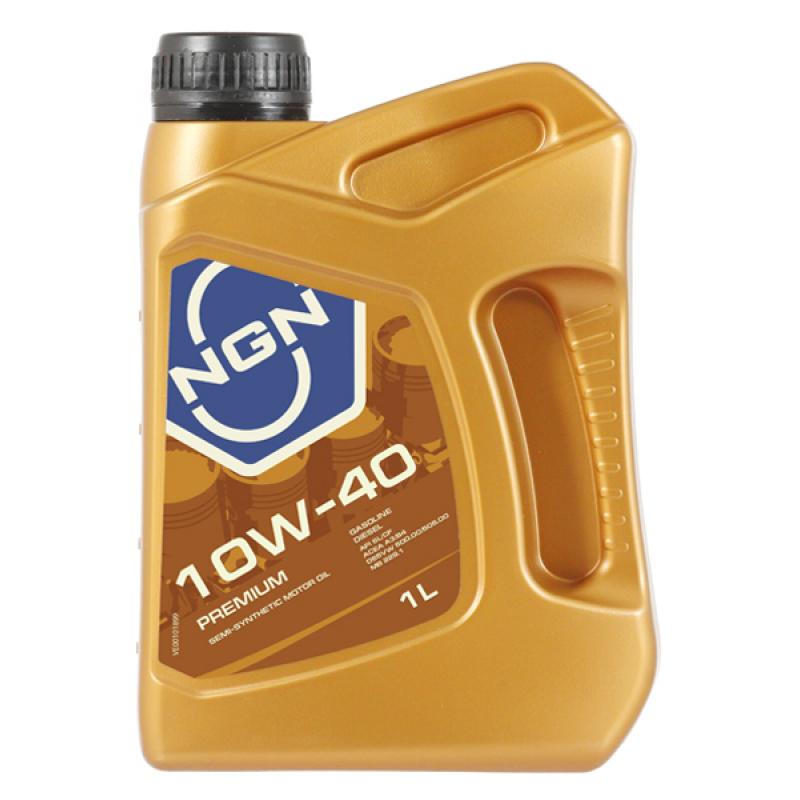NGN V172085606 | Масло моторное NGN Premium 10W40 (Полусинтетика, API SL/CF) 1L | Купить в интернет-магазине Макс-Плюс: Автозапчасти в наличии и под заказ