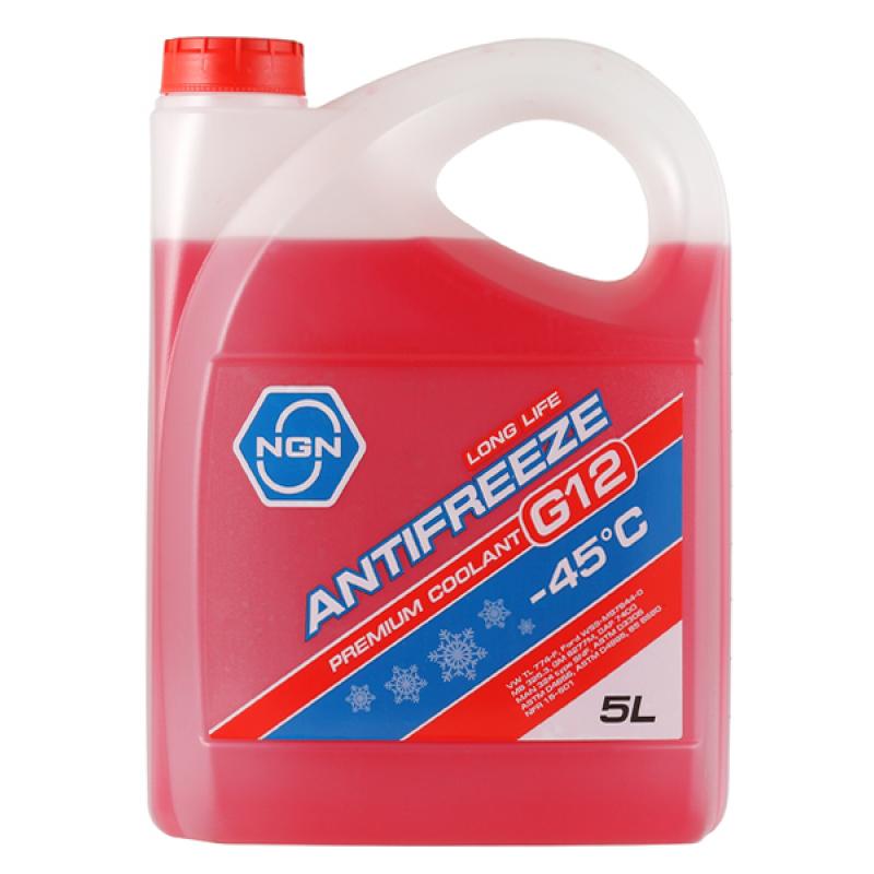 NGN V172485339 | Антифриз NGN G12 -45° красный 5L | Купить в интернет-магазине Макс-Плюс: Автозапчасти в наличии и под заказ