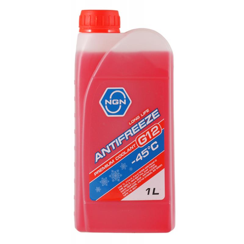 NGN V172485640 | Антифриз NGN G12 -45° красный 1L | Купить в интернет-магазине Макс-Плюс: Автозапчасти в наличии и под заказ