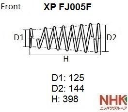NHK XPFJ005F | Пружина подвески NHK | Купить в интернет-магазине Макс-Плюс: Автозапчасти в наличии и под заказ