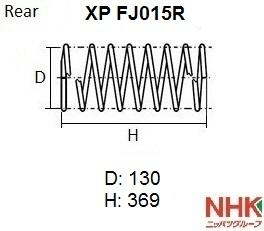 NHK XPFJ015R | Пружина подвески NHK | Купить в интернет-магазине Макс-Плюс: Автозапчасти в наличии и под заказ
