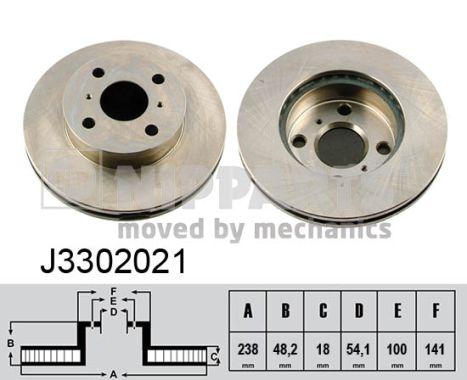 NIPPARTS J3302021 | диск тормозной передний!\ Toyota Corolla 1.3-1.8D 87-97 | Купить в интернет-магазине Макс-Плюс: Автозапчасти в наличии и под заказ