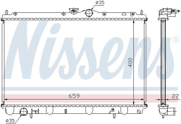 NISSENS 62857A | радиатор системы охлаждения!\ Mitsubishi Carisma 1.6/1.8 16V 95> | Купить в интернет-магазине Макс-Плюс: Автозапчасти в наличии и под заказ