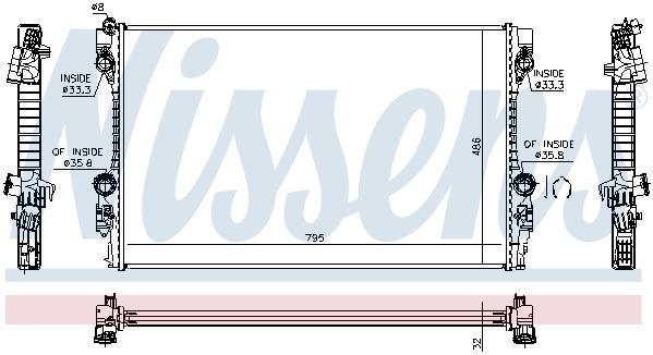NISSENS 63779 | Радиатор PORSCHE PANAMERA 09- | Купить в интернет-магазине Макс-Плюс: Автозапчасти в наличии и под заказ