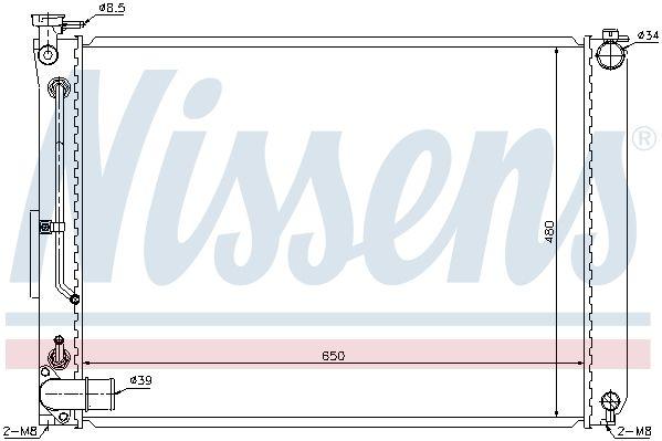 NISSENS 646866 | Радиатор двигателя | Купить в интернет-магазине Макс-Плюс: Автозапчасти в наличии и под заказ