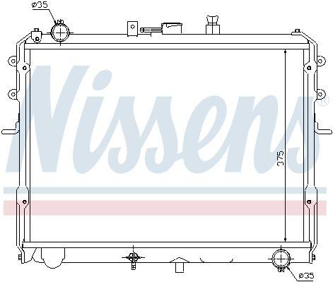 NISSENS 67358 | Радиатор, охлаждение двигателя | Купить в интернет-магазине Макс-Плюс: Автозапчасти в наличии и под заказ