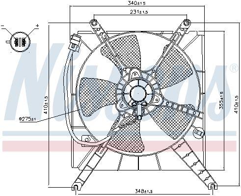 NISSENS 85496 | Вентилятор радиатора SUZUKI BALENO 96-02, | Купить в интернет-магазине Макс-Плюс: Автозапчасти в наличии и под заказ