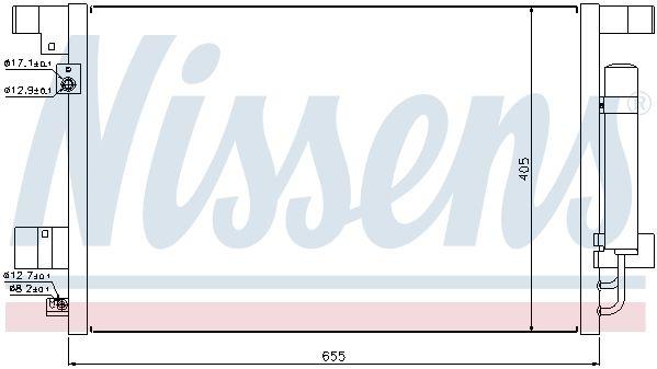 NISSENS 940029 | Радиатор конд MITSUBISHI LANCER 07- | Купить в интернет-магазине Макс-Плюс: Автозапчасти в наличии и под заказ