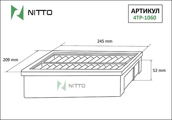 NITTO 4TP1060 | Фильтр воздушный Nitto | Купить в интернет-магазине Макс-Плюс: Автозапчасти в наличии и под заказ