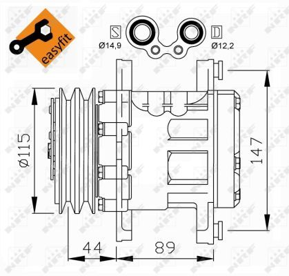 NRF 32207 | Компрессор, кондиционер | Купить в интернет-магазине Макс-Плюс: Автозапчасти в наличии и под заказ