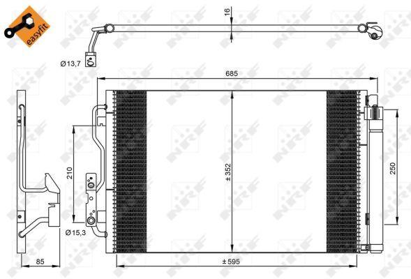 NRF 35970 | Конденсатор BMW 1, 3 10- | Купить в интернет-магазине Макс-Плюс: Автозапчасти в наличии и под заказ