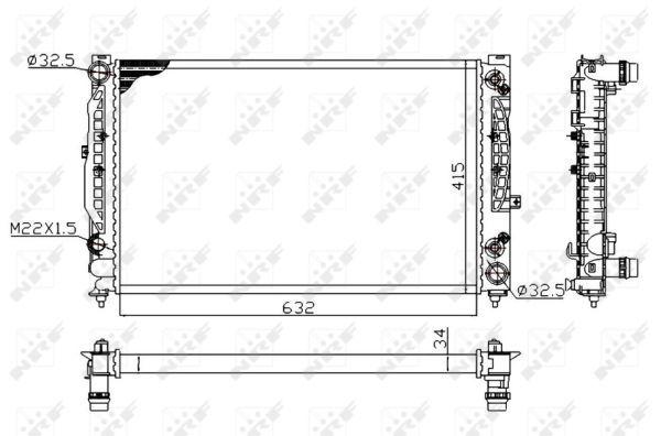 NRF 519504A | радиатор системы охлаждения!\ Audi A4/A6, VW Passat 2.4-2.8/1.9TDi/2.5TDI 96> | Купить в интернет-магазине Макс-Плюс: Автозапчасти в наличии и под заказ