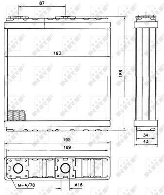 NRF 52098 | Радиатор отопителя салона NISSAN MICRA I 82-92, MICRA II 92-03, PRIMERA 90-02, | Купить в интернет-магазине Макс-Плюс: Автозапчасти в наличии и под заказ