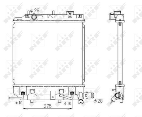 NRF 53434 | Радиатор двигателя MAZDA DEMIO 1.3/1.5 08.98-07.03 | Купить в интернет-магазине Макс-Плюс: Автозапчасти в наличии и под заказ