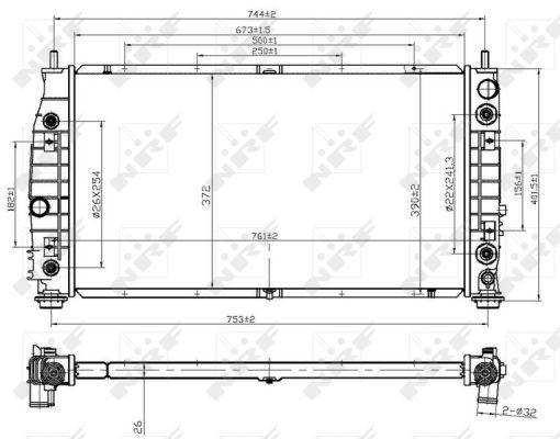 NRF 53954 | Радиатор двигателя | Купить в интернет-магазине Макс-Плюс: Автозапчасти в наличии и под заказ