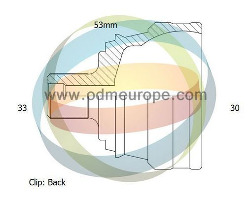 ODM-MULTIPARTS 12211603 | 12-211603_шрус 33/53,5mm/30 Audi 80 1,8-2,0 88-92 | Купить в интернет-магазине Макс-Плюс: Автозапчасти в наличии и под заказ