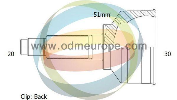ODM-MULTIPARTS 12211689 | 12-211689 шрус 20/52mm/30 Fabia 1,4 00-- | Купить в интернет-магазине Макс-Плюс: Автозапчасти в наличии и под заказ