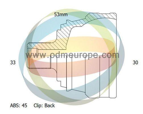 ODM-MULTIPARTS 12211792 | 12-211792 шрус 33/53mm/30 45 B5/A4 1.6-2.3 | Купить в интернет-магазине Макс-Плюс: Автозапчасти в наличии и под заказ