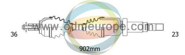 ODM-MULTIPARTS 18012580 | вал приводной | Купить в интернет-магазине Макс-Плюс: Автозапчасти в наличии и под заказ