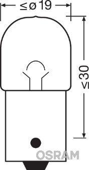 OSRAM 5007 | Лампа R5W 12V 5W BA15s ORIGINAL LINE качество оригинальной з/ч (ОЕМ) 1 шт. | Купить в интернет-магазине Макс-Плюс: Автозапчасти в наличии и под заказ