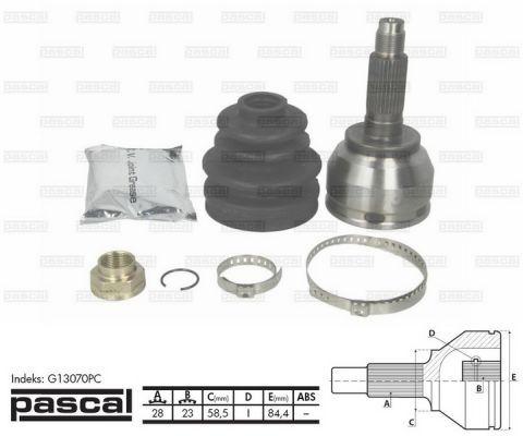 PASCAL G13070PC | G13070PC_Mazda 3/5 28/58.5mm/23' | Купить в интернет-магазине Макс-Плюс: Автозапчасти в наличии и под заказ