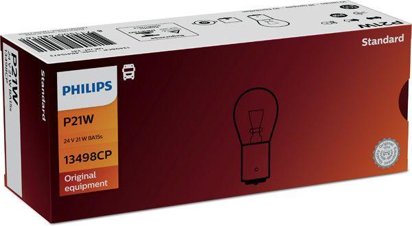 PHILIPS 13498CP | Лампа накаливания габаритного освещения | Купить в интернет-магазине Макс-Плюс: Автозапчасти в наличии и под заказ