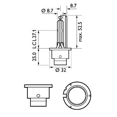 PHILIPS 42402VIC1 | Лампа ксеноновая D4S Vision 4600K 42V 35W P32d-5 C1 | Купить в интернет-магазине Макс-Плюс: Автозапчасти в наличии и под заказ