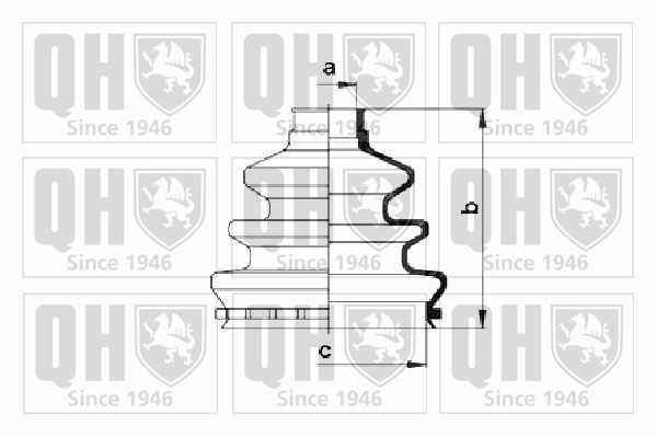QUINTON HAZELL QJB171 | пыльник привода (qh / qjb171) ориг.90129014 | Купить в интернет-магазине Макс-Плюс: Автозапчасти в наличии и под заказ