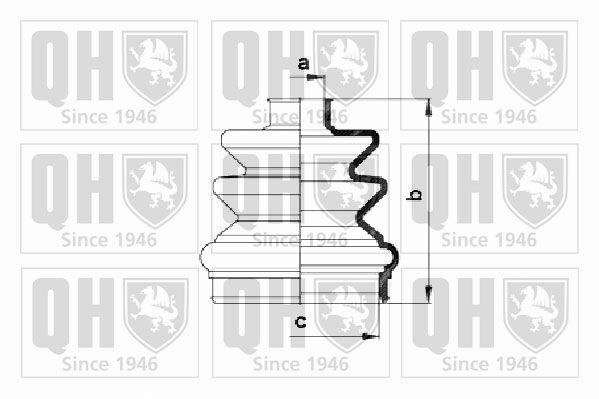 QUINTON HAZELL QJB282   Комплект пылника, приводной вал   Купить в интернет-магазине Макс-Плюс: Автозапчасти в наличии и под заказ