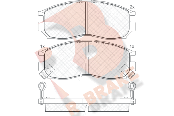 R BRAKE RB0771 | Дисковые тормозные колодки R BRAKE | Купить в интернет-магазине Макс-Плюс: Автозапчасти в наличии и под заказ