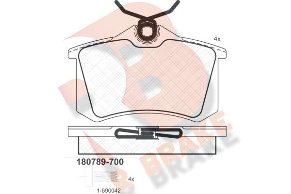 R BRAKE RB0789700   Дисковые тормозные колодки R BRAKE   Купить в интернет-магазине Макс-Плюс: Автозапчасти в наличии и под заказ