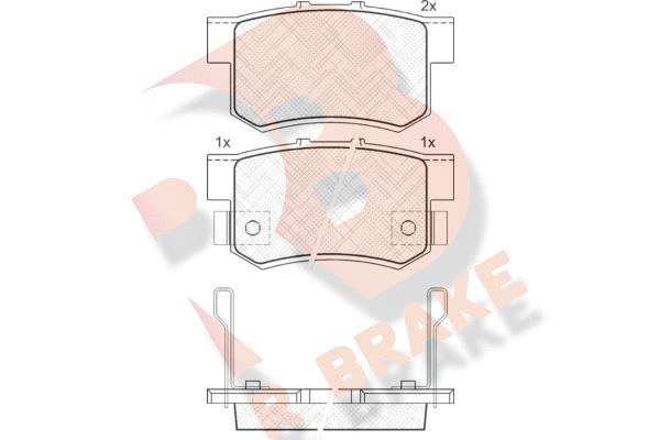 R BRAKE RB1187 | Дисковые тормозные колодки R BRAKE | Купить в интернет-магазине Макс-Плюс: Автозапчасти в наличии и под заказ