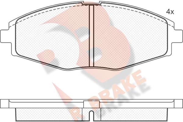 R BRAKE RB1262   Дисковые тормозные колодки R BRAKE   Купить в интернет-магазине Макс-Плюс: Автозапчасти в наличии и под заказ