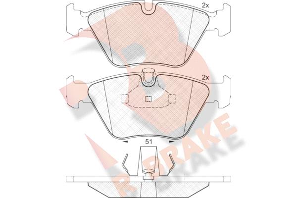 R BRAKE RB1296 | Дисковые тормозные колодки R BRAKE | Купить в интернет-магазине Макс-Плюс: Автозапчасти в наличии и под заказ