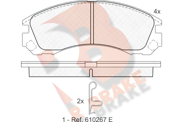 R BRAKE RB1358   Дисковые тормозные колодки R BRAKE   Купить в интернет-магазине Макс-Плюс: Автозапчасти в наличии и под заказ