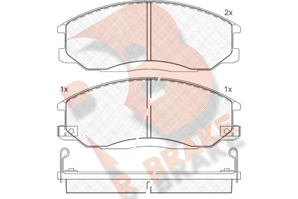 R BRAKE RB1372 | Дисковые тормозные колодки R BRAKE | Купить в интернет-магазине Макс-Плюс: Автозапчасти в наличии и под заказ