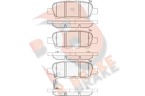 R BRAKE RB1509   Дисковые тормозные колодки R BRAKE   Купить в интернет-магазине Макс-Плюс: Автозапчасти в наличии и под заказ