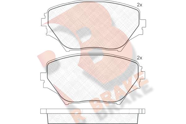 R BRAKE RB1519 | Дисковые тормозные колодки R BRAKE | Купить в интернет-магазине Макс-Плюс: Автозапчасти в наличии и под заказ