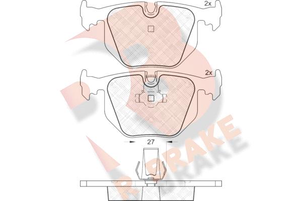 R BRAKE RB1552 | Дисковые тормозные колодки R BRAKE | Купить в интернет-магазине Макс-Плюс: Автозапчасти в наличии и под заказ