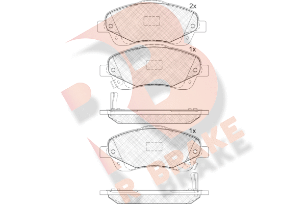 R BRAKE RB1573   Дисковые тормозные колодки R BRAKE   Купить в интернет-магазине Макс-Плюс: Автозапчасти в наличии и под заказ